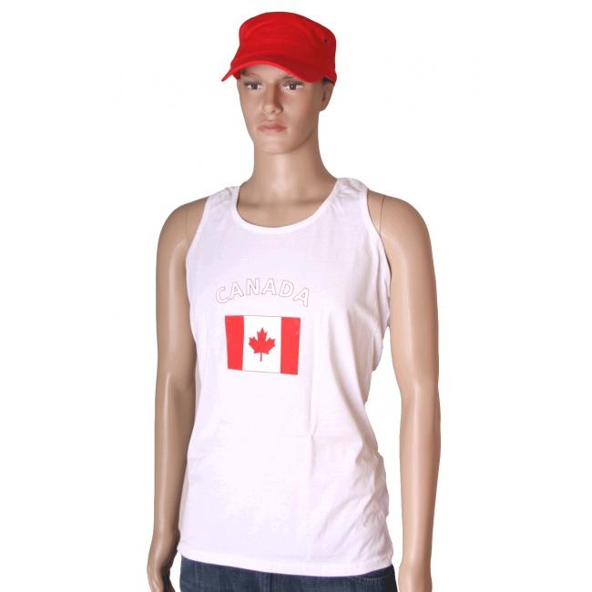 Witte heren tanktop Canada