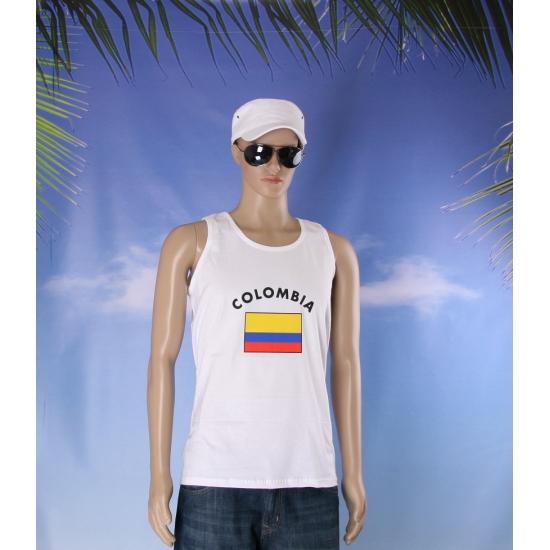 Witte heren tanktop Colombia