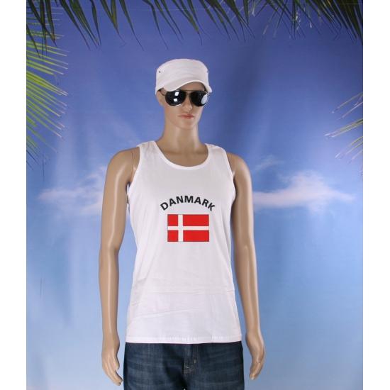 Witte heren tanktop Denemarken