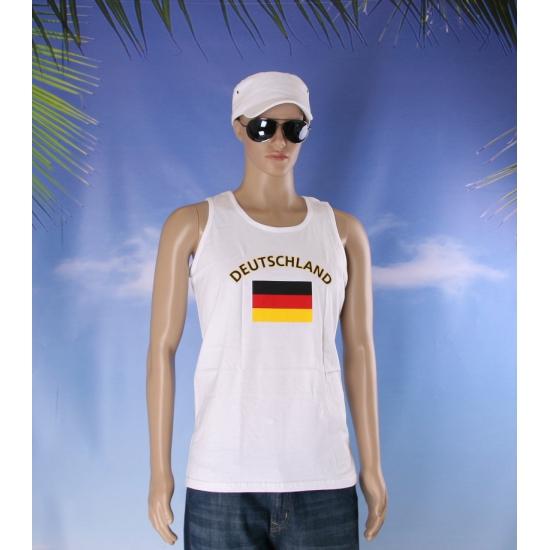 Witte heren tanktop Duitsland