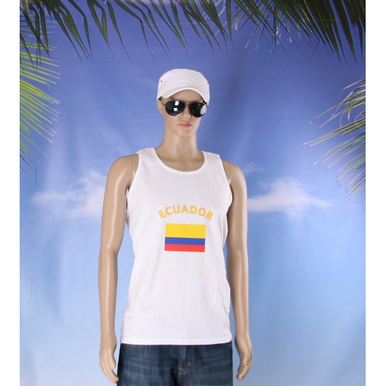 Witte heren tanktop Ecuador