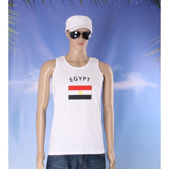 Witte heren tanktop Egypte