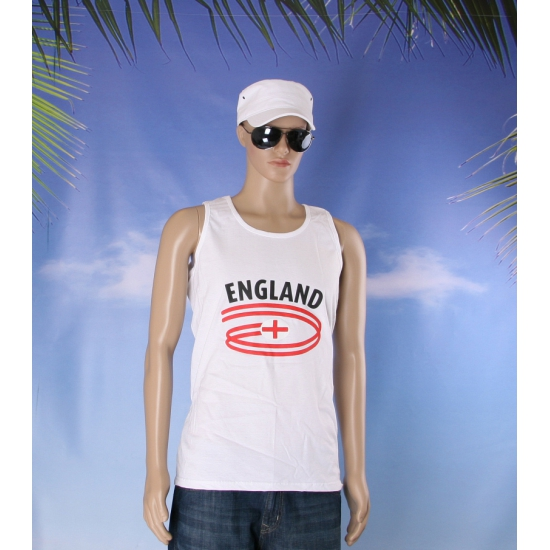 Witte heren tanktop Engeland