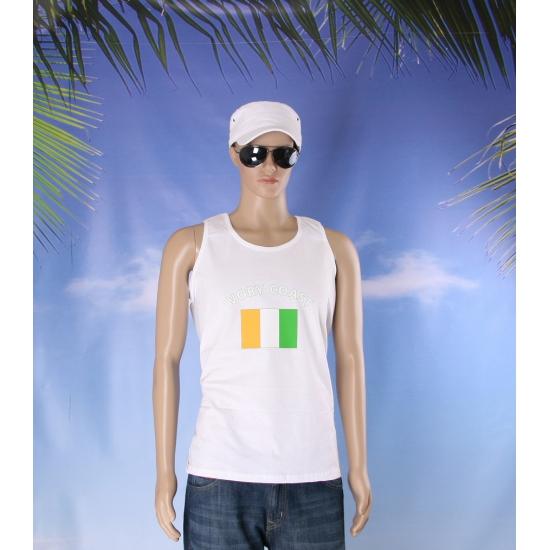 Witte heren tanktop Ivoorkust