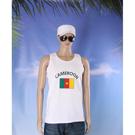 Witte heren tanktop Kameroen