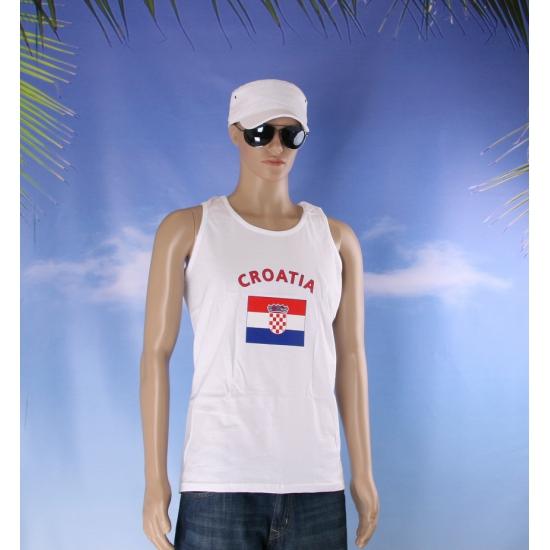 Witte heren tanktop Kroatie