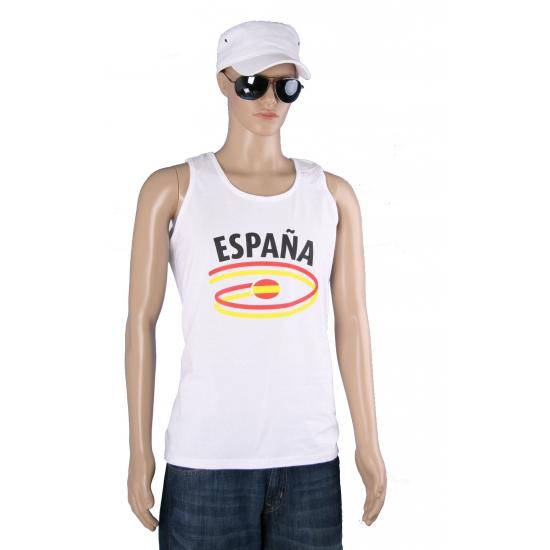 Witte heren tanktop Spanje