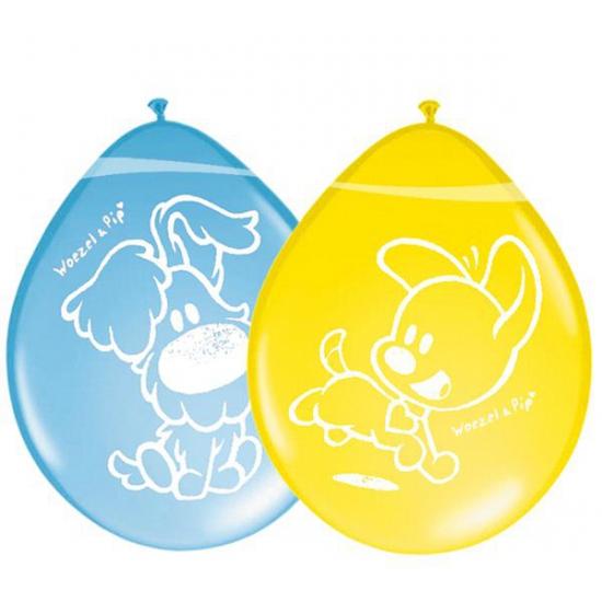 Woezel en Pip decoratie 8 ballonnen