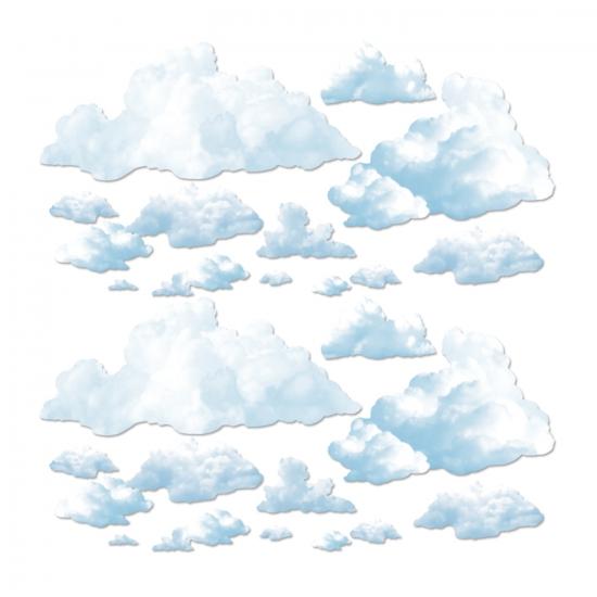 Wolken scenesetter decoratie 24 delig
