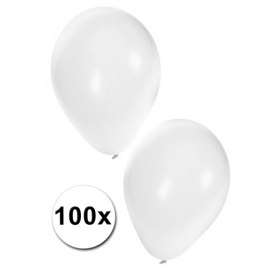 Zak ballonnen wit, 100 stuks