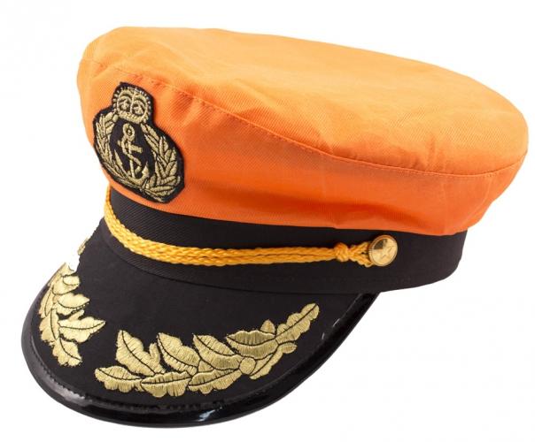 Zeemans oranje kapiteinspet
