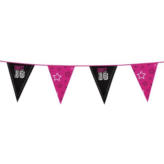 Zestiende verjaardag Sweet 16 vlaggenlijn