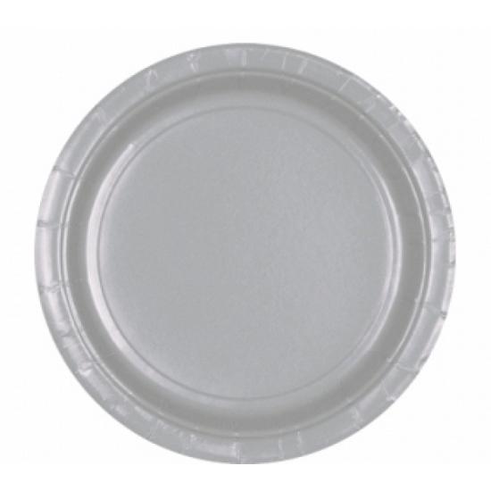 Zilveren bordjes 8 stuks