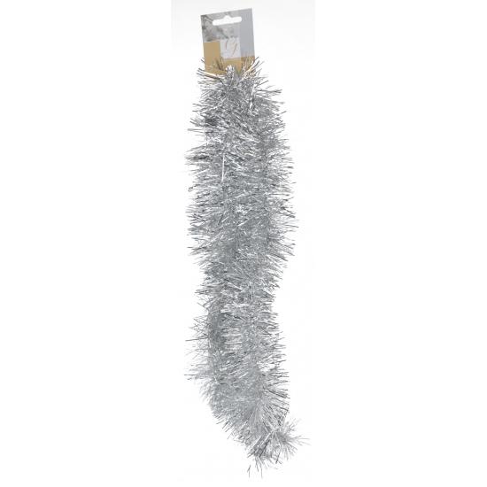 Zilveren folie slinger 2 meter