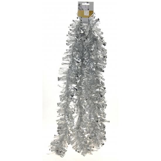 Zilveren folie slinger 270 cm