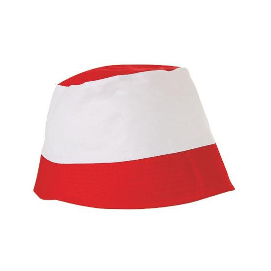 Zonnehoedjes rood met wit