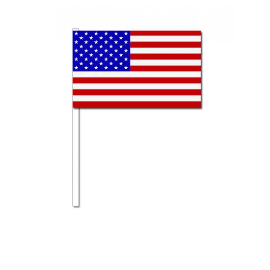 Zwaaivlaggetjes Amerika 12 x 24 cm