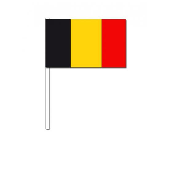Zwaaivlaggetjes Belgie 12 x 24 cm