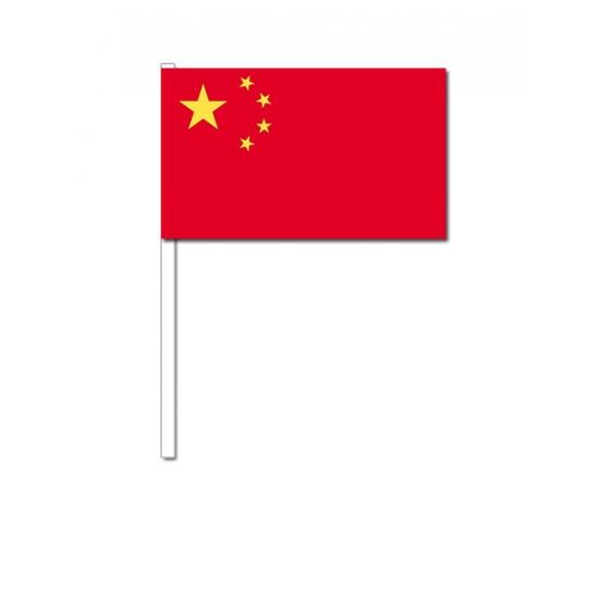 Zwaaivlaggetjes China 12 x 24 cm