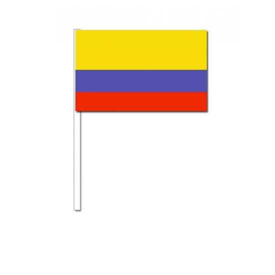 Zwaaivlaggetjes Colombia 12 x 24 cm