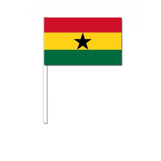 Zwaaivlaggetjes Ghana 12 x 24 cm