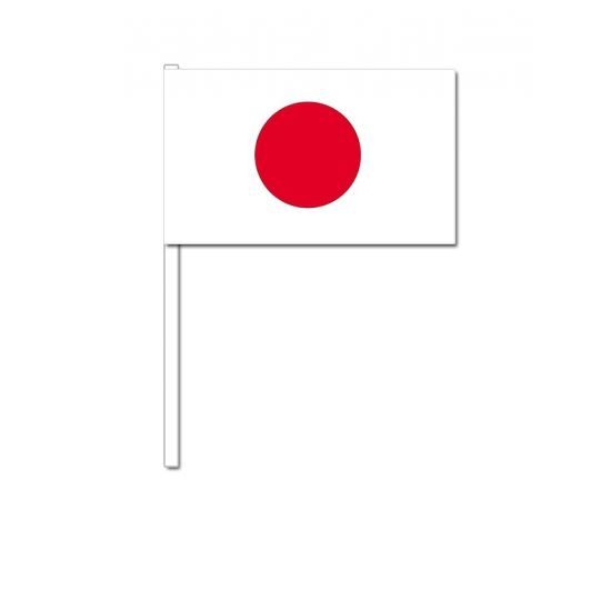 Zwaaivlaggetjes Japan 12 x 24 cm