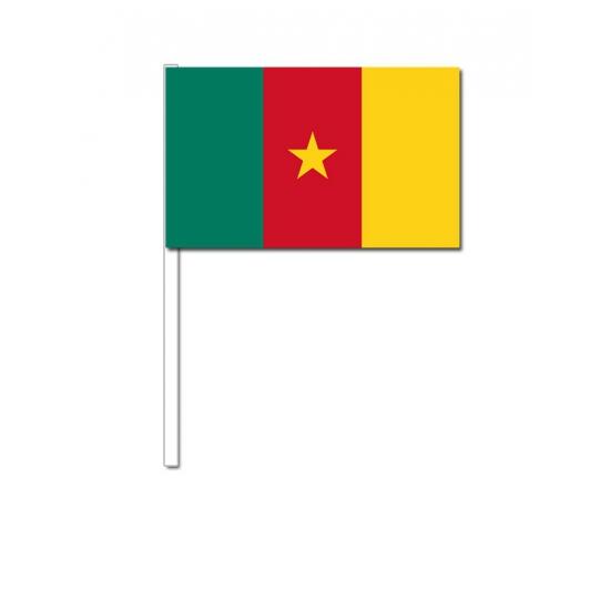 Zwaaivlaggetjes Kameroen 12 x 24 cm