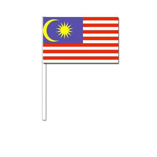 Zwaaivlaggetjes Maleisie 12 x 24 cm