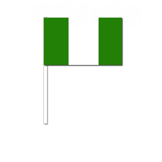 Zwaaivlaggetjes Nigeria 12 x 24 cm