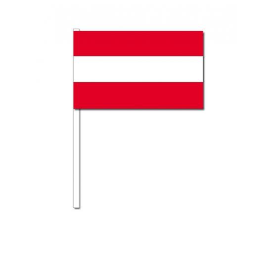 Zwaaivlaggetjes Oostenrijk 12 x 24 cm