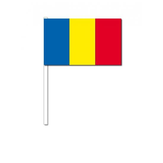 Zwaaivlaggetjes Roemenie 12 x 24 cm