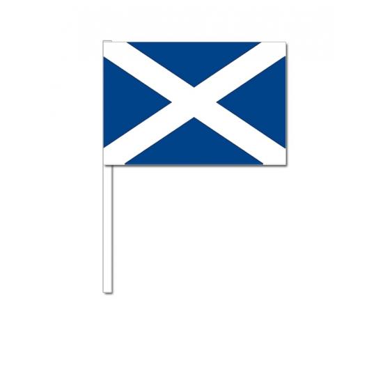 Zwaaivlaggetjes Schotland 12 x 24 cm