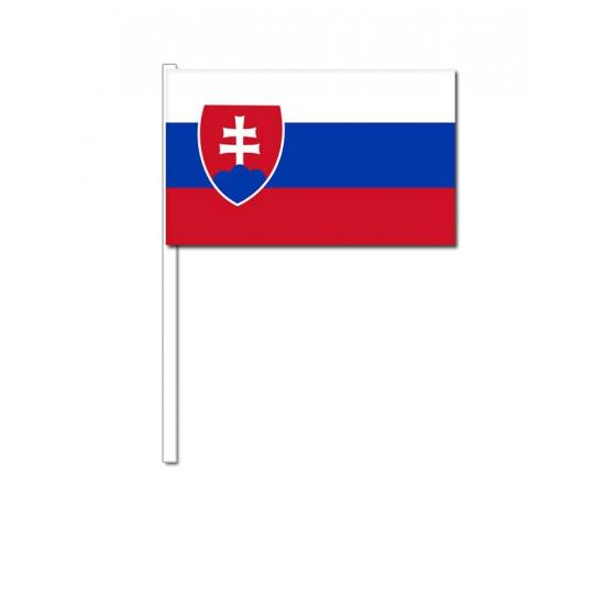 Zwaaivlaggetjes Slowakije 12 x 24 cm