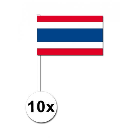 Zwaaivlaggetjes Thaise vlag 10 stuks