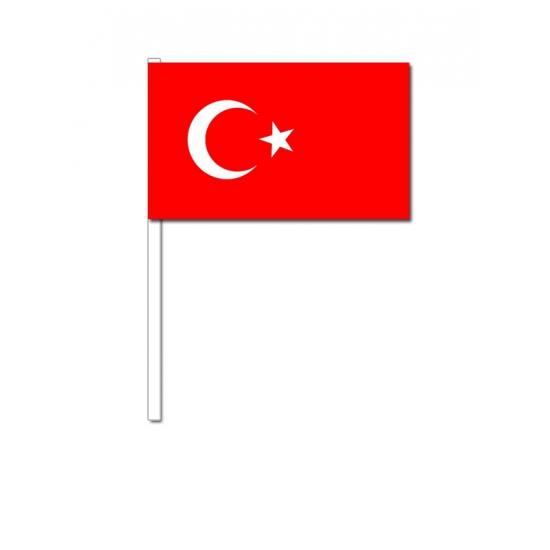 Zwaaivlaggetjes Turkije 12 x 24 cm