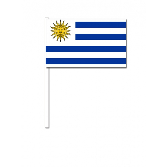 Zwaaivlaggetjes Uruguay 12 x 24 cm