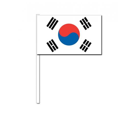 Zwaaivlaggetjes Zuid Korea 12 x 24 cm
