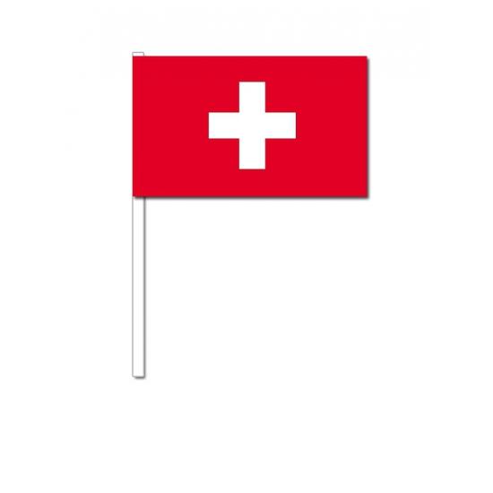 Zwaaivlaggetjes Zwitserland 12 x 24 cm