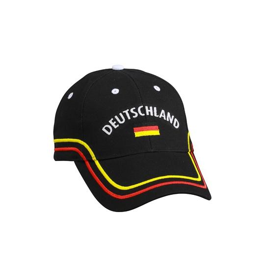 Zwarte Duitsland petten 100% katoen