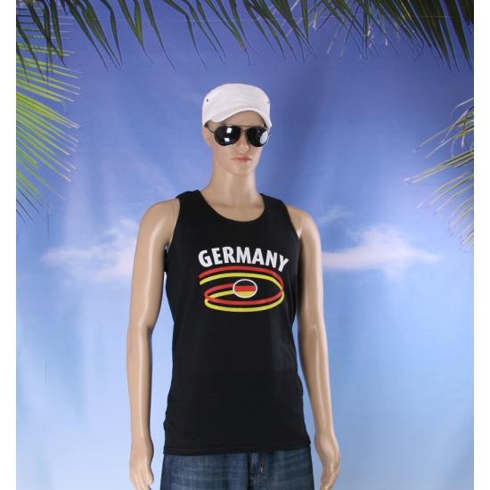 Zwarte heren singlet Duitsland