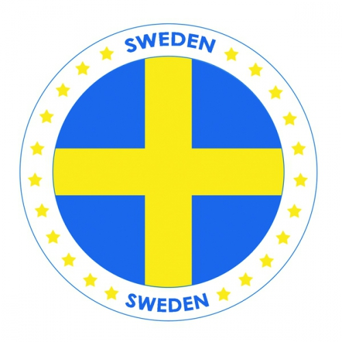 Zweden vlag print bierviltjes