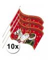10 sinterklaas zwaaivlaggetjes 20 x 30 cm