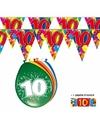 2x 10 jaar vlaggenlijn ballonnen