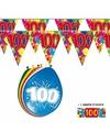 2x 100 jaar vlaggenlijn ballonnen