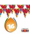 2x 16 jaar vlaggenlijn ballonnen
