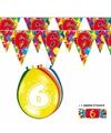 2x 6 jaar vlaggenlijn ballonnen