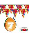 2x 7 jaar vlaggenlijn ballonnen