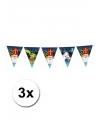 3 plastic sinterklaas vlaggenlijnen 6 meter