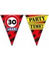 30 jaar vlaggenlijn waarschuwingsbord 10mtr