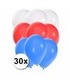30x ballonnen in sloveense kleuren